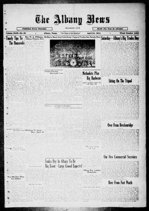 Primary view of object titled 'The Albany News (Albany, Tex.), Vol. 49, No. 28, Ed. 1 Thursday, April 12, 1934'.