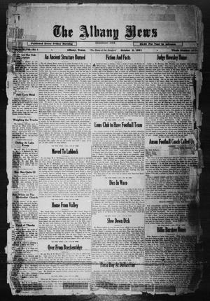 Primary view of object titled 'The Albany News (Albany, Tex.), Vol. 47, No. 1, Ed. 1 Friday, October 9, 1931'.