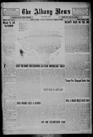 Primary view of object titled 'The Albany News (Albany, Tex.), Vol. 45, No. 43, Ed. 1 Friday, August 2, 1929'.