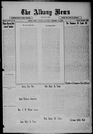 Primary view of object titled 'The Albany News (Albany, Tex.), Vol. 46, No. 10, Ed. 1 Friday, December 13, 1929'.