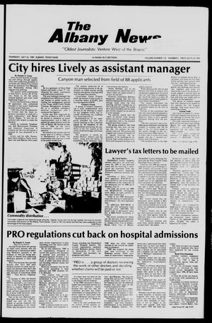 Primary view of object titled 'The Albany News (Albany, Tex.), Vol. 112, No. 5, Ed. 1 Thursday, July 16, 1987'.