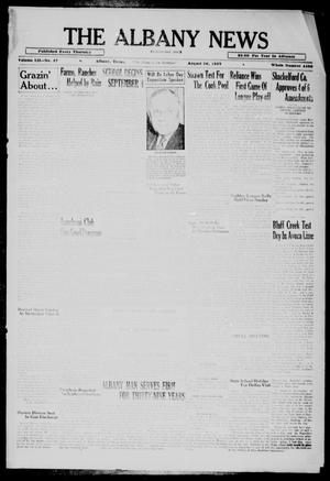 Primary view of object titled 'The Albany News (Albany, Tex.), Vol. 52, No. 47, Ed. 1 Thursday, August 26, 1937'.