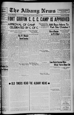 Primary view of object titled 'The Albany News (Albany, Tex.), Vol. 54, No. 44, Ed. 1 Thursday, August 10, 1939'.