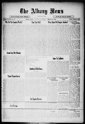 Primary view of object titled 'The Albany News (Albany, Tex.), Vol. 48, No. 25, Ed. 1 Friday, March 24, 1933'.