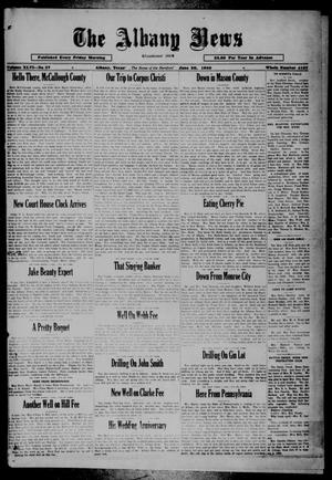 Primary view of object titled 'The Albany News (Albany, Tex.), Vol. 46, No. 37, Ed. 1 Friday, June 20, 1930'.