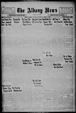 Primary view of object titled 'The Albany News (Albany, Tex.), Vol. 45, No. 35, Ed. 1 Friday, June 7, 1929'.