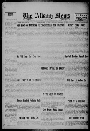 Primary view of object titled 'The Albany News (Albany, Tex.), Vol. 45, No. 18, Ed. 1 Friday, February 8, 1929'.