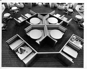 Primary view of object titled '[Overhead View of Cafeteria]'.