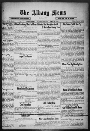 Primary view of object titled 'The Albany News (Albany, Tex.), Vol. 47, No. 28, Ed. 1 Friday, April 15, 1932'.
