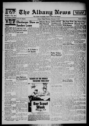 Primary view of object titled 'The Albany News (Albany, Tex.), Vol. 62, No. 17, Ed. 1 Thursday, February 7, 1946'.