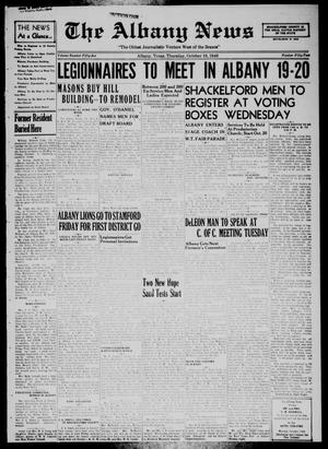 Primary view of object titled 'The Albany News (Albany, Tex.), Vol. 55, No. 52, Ed. 1 Thursday, October 10, 1940'.