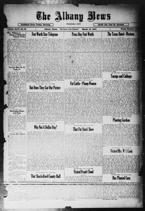 Primary view of object titled 'The Albany News (Albany, Tex.), Vol. 46, No. 23, Ed. 1 Friday, March 13, 1931'.