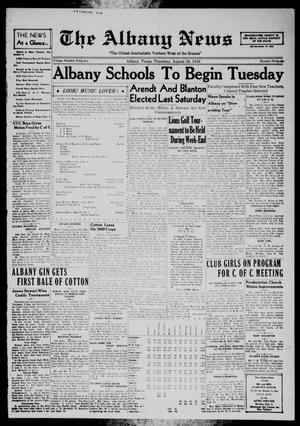 Primary view of object titled 'The Albany News (Albany, Tex.), Vol. 55, No. 46, Ed. 1 Thursday, August 29, 1940'.