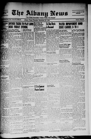 Primary view of object titled 'The Albany News (Albany, Tex.), Vol. 66, No. 52, Ed. 1 Thursday, September 28, 1950'.