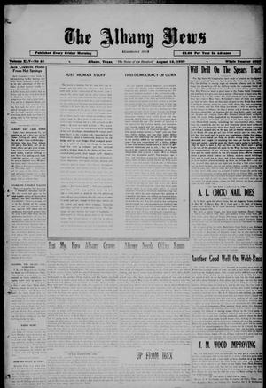 Primary view of object titled 'The Albany News (Albany, Tex.), Vol. 45, No. 45, Ed. 1 Friday, August 16, 1929'.