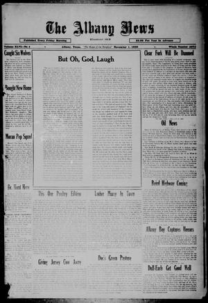Primary view of object titled 'The Albany News (Albany, Tex.), Vol. 46, No. 4, Ed. 1 Friday, November 1, 1929'.