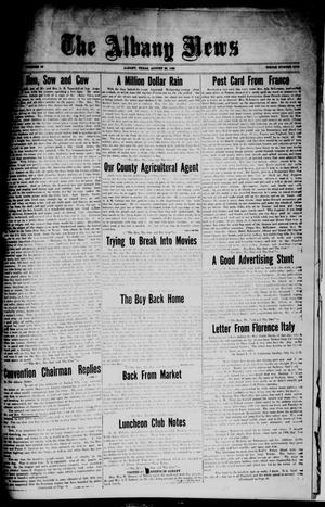Primary view of object titled 'The Albany News (Albany, Tex.), Vol. [42], No. 49, Ed. 1 Friday, August 20, 1926'.