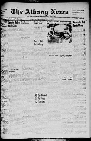 Primary view of object titled 'The Albany News (Albany, Tex.), Vol. 69, No. 24, Ed. 1 Thursday, March 5, 1953'.