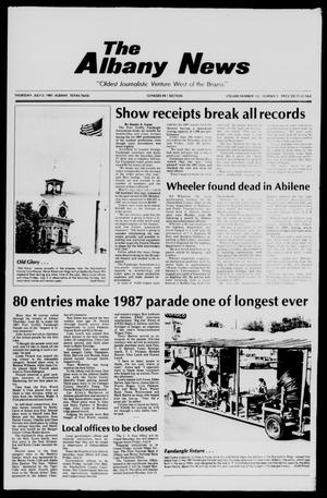 Primary view of object titled 'The Albany News (Albany, Tex.), Vol. 112, No. 3, Ed. 1 Thursday, July 2, 1987'.