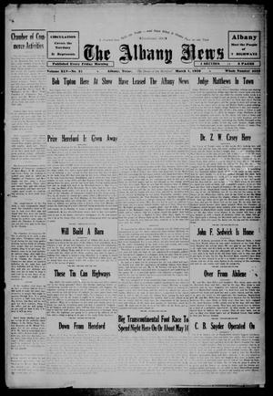 Primary view of object titled 'The Albany News (Albany, Tex.), Vol. 45, No. 21, Ed. 1 Friday, March 1, 1929'.