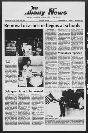 Primary view of object titled 'The Albany News (Albany, Tex.), Vol. 113, No. 4, Ed. 1 Thursday, July 7, 1988'.