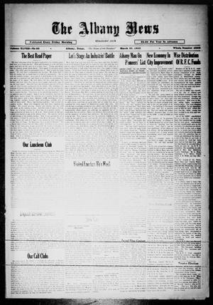 Primary view of object titled 'The Albany News (Albany, Tex.), Vol. 48, No. 26, Ed. 1 Friday, March 31, 1933'.