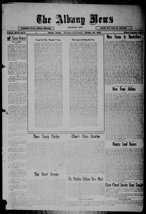Primary view of object titled 'The Albany News (Albany, Tex.), Vol. 46, No. 3, Ed. 1 Friday, October 25, 1929'.