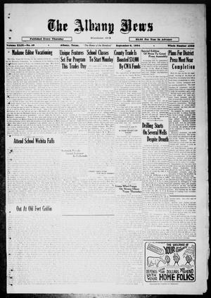 Primary view of object titled 'The Albany News (Albany, Tex.), Vol. 49, No. 49, Ed. 1 Thursday, September 6, 1934'.