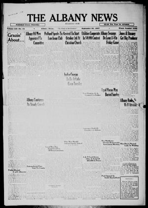 Primary view of object titled 'The Albany News (Albany, Tex.), Vol. 52, No. 52, Ed. 1 Thursday, September 30, 1937'.