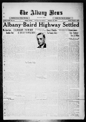 Primary view of object titled 'The Albany News (Albany, Tex.), Vol. 49, No. 15, Ed. 1 Friday, January 12, 1934'.
