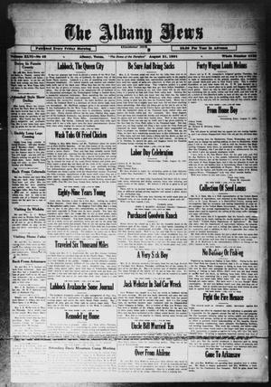 Primary view of object titled 'The Albany News (Albany, Tex.), Vol. 46, No. 46, Ed. 1 Friday, August 21, 1931'.