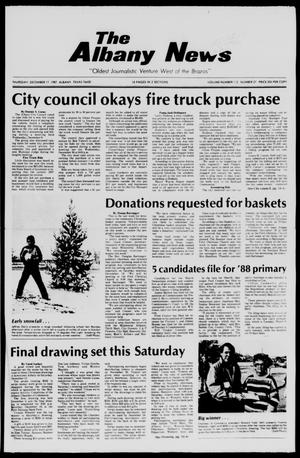 Primary view of object titled 'The Albany News (Albany, Tex.), Vol. 112, No. 27, Ed. 1 Thursday, December 17, 1987'.