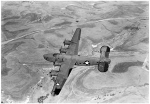 C-87 plane in flight