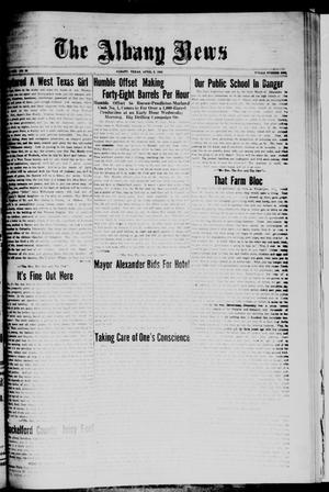 Primary view of object titled 'The Albany News (Albany, Tex.), Vol. [42], No. 29, Ed. 1 Friday, April 2, 1926'.