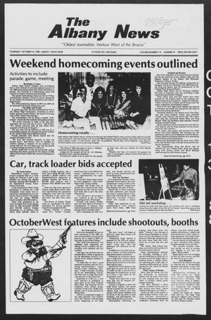 Primary view of object titled 'The Albany News (Albany, Tex.), Vol. 113, No. 18, Ed. 1 Thursday, October 13, 1988'.
