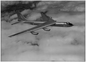 Primary view of object titled 'Convair YB-60 in flight'.