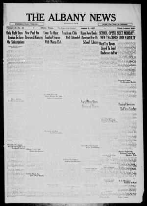 Primary view of object titled 'The Albany News (Albany, Tex.), Vol. 52, No. 48, Ed. 1 Thursday, September 2, 1937'.
