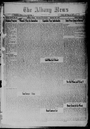 Primary view of object titled 'The Albany News (Albany, Tex.), Vol. 46, No. 16, Ed. 1 Friday, January 23, 1931'.
