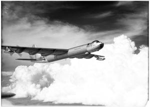 Primary view of object titled 'B-36D No. 93 in flight'.