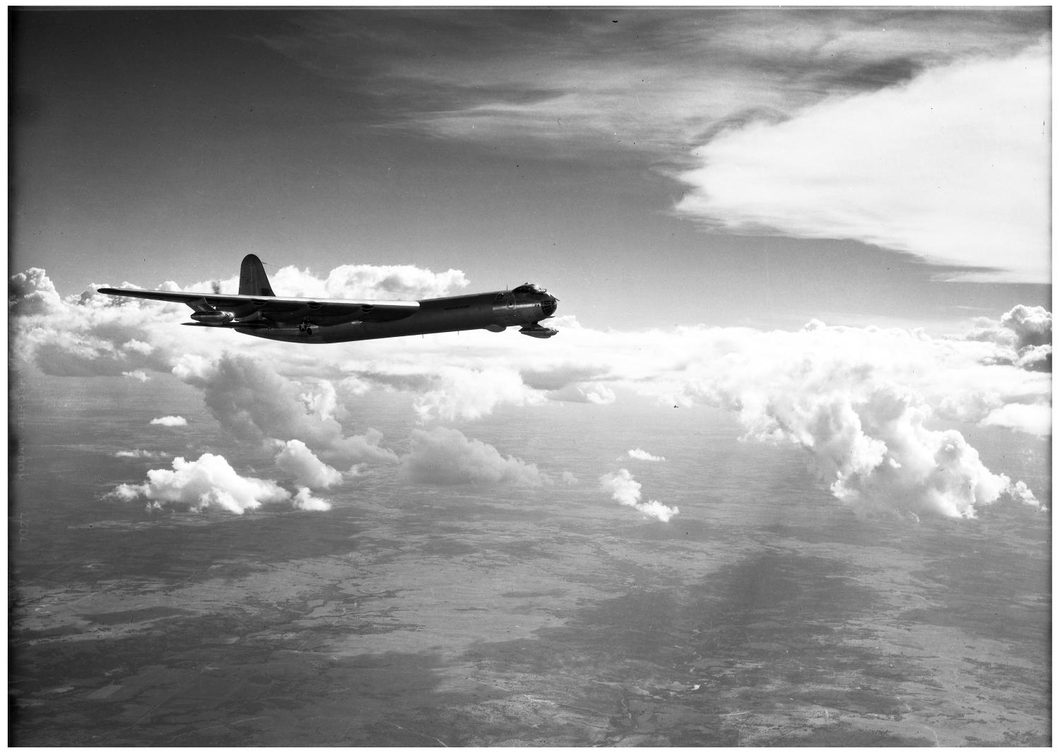 B-36D No. 93 in flight                                                                                                      [Sequence #]: 1 of 1