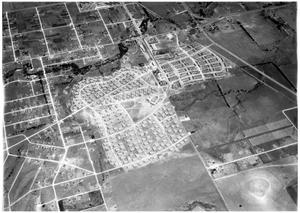 Aerial view of Liberator Village