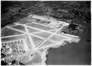 Primary view of object titled 'Aerial view of C.V.A.C. and Tarrant Field'.