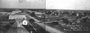 Primary view of object titled '[Aerial view of streets in Granger]'.