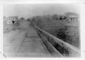 Primary view of object titled '[Wooden Bridge leading to Old Town Round Rock]'.