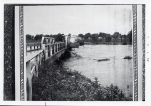 Primary view of object titled '[Flooded river with bridge]'.