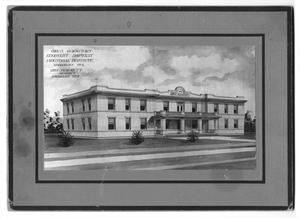 Primary view of object titled 'Girl's dormintory, Goodnight Baptist Industrial Institute, Goodnight, Texas, Geo. Burnett, architect, Amarillo, Tex.'.