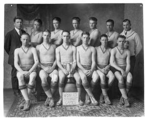 Primary view of object titled 'Canyon High School basketball team, 1925'.