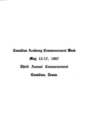 Primary view of object titled 'Canadian Academy commencement week'.