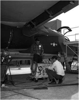 Primary view of object titled 'Field Maintenance on F-111s'.