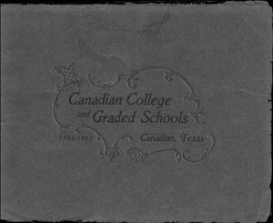 Primary view of object titled 'Canadian College and graded schools, Canadian, Texas'.